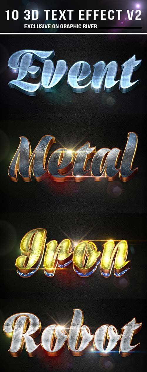 GraphicRiver 10 3D Text Effect v2