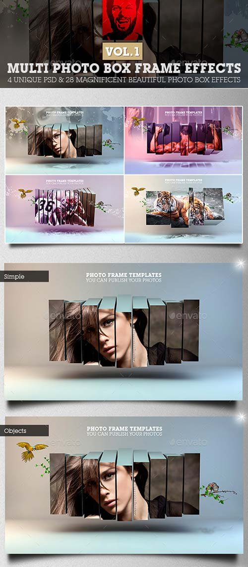 GraphicRiver Multi Photo Box Frame Effects Vol1