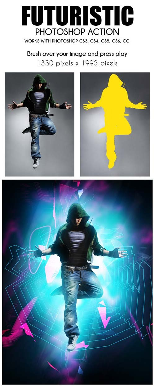 GraphicRiver Futuristic Photoshop Action