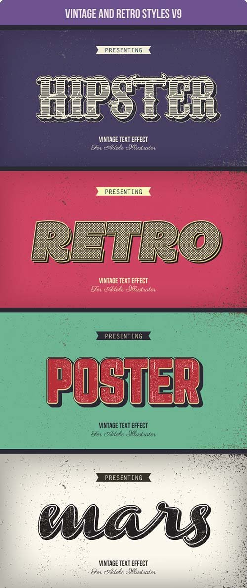 GraphicRiver Vintage and Retro Styles V9