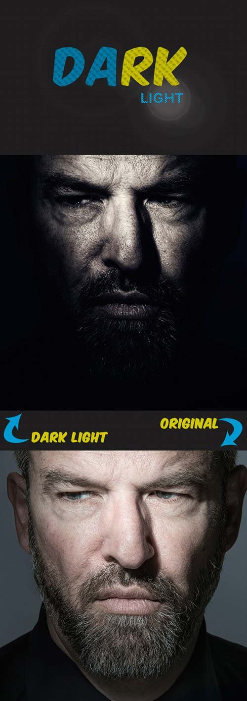 GraphicRiver Dark Light Photoshop Action