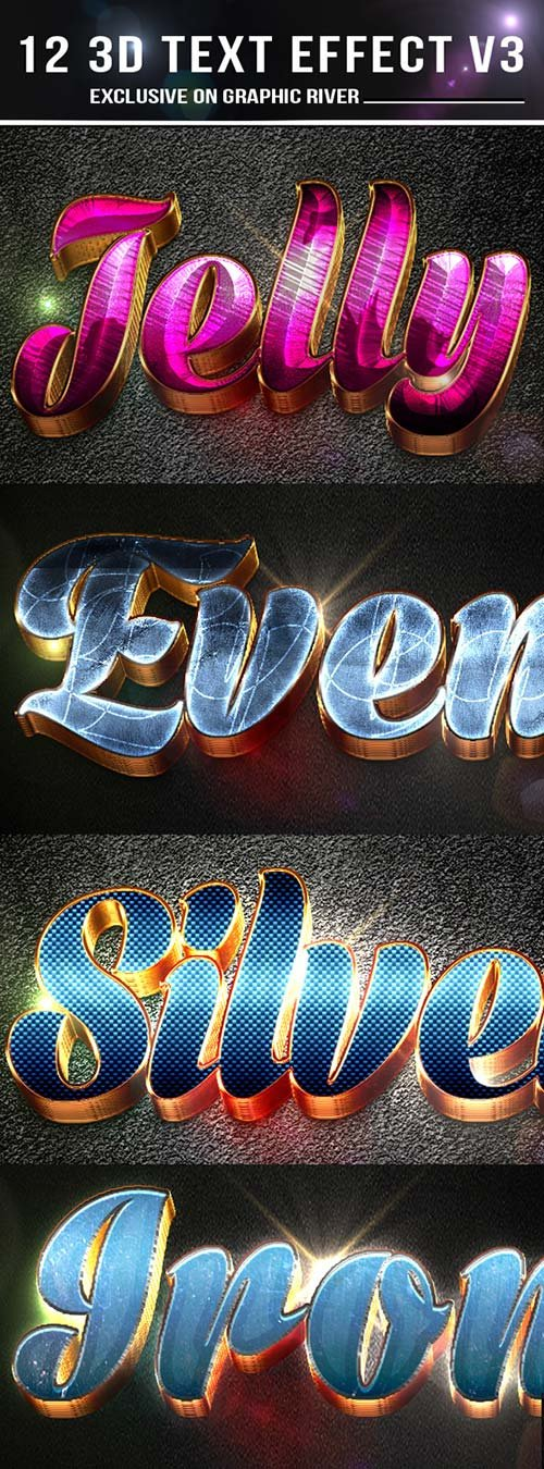 GraphicRiver 12 3d Text Effect v4