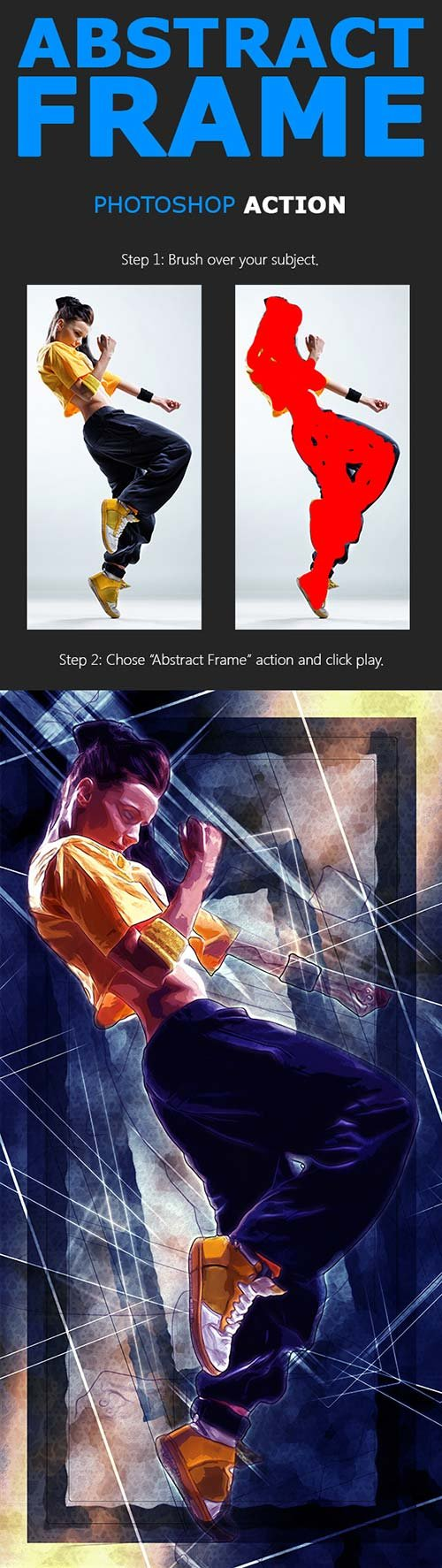 GraphicRiver Abstract Frame Photoshop Action