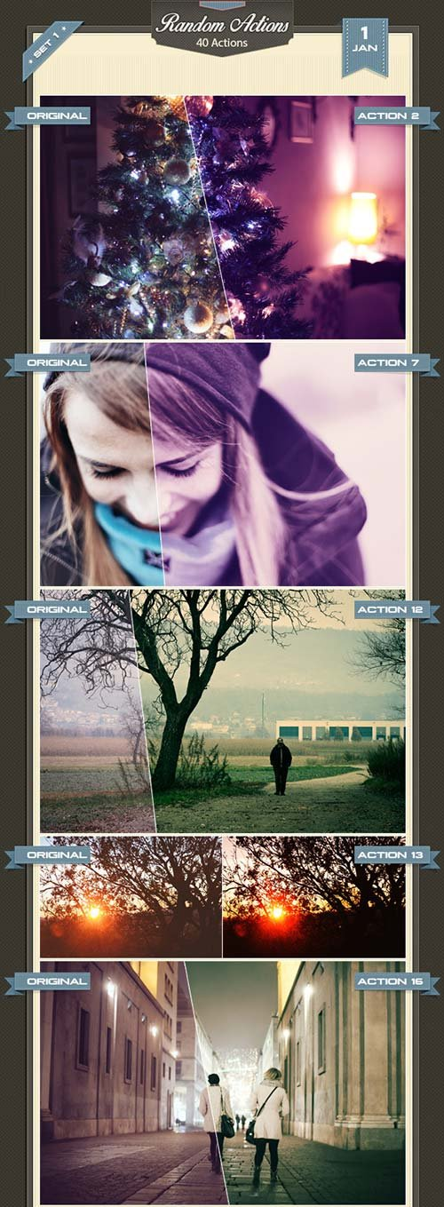 GraphicRiver Random Photoshop Actions I