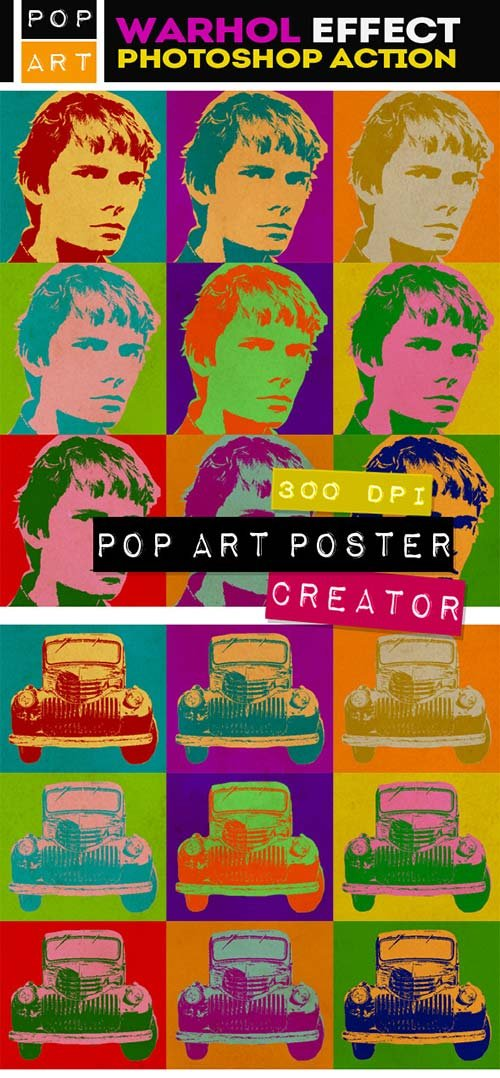 GraphicRiver Pop Art Poster Maker - Warhol Effect