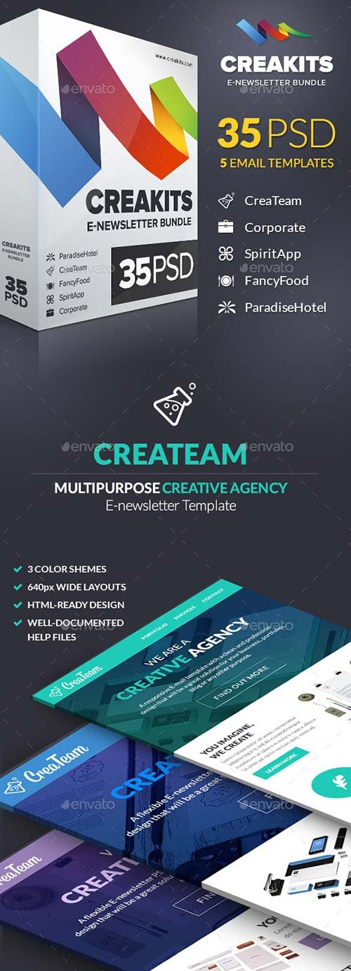 GraphicRiver CreaKits E-Newsletter Bundle