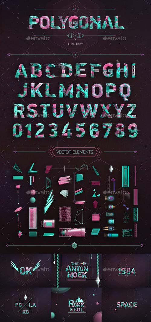 GraphicRiver Polygonal Alphabet