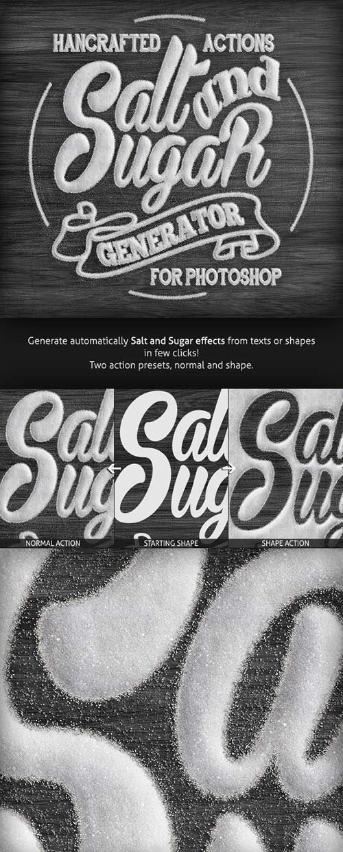 GraphicRiver Salt and Sugar Generator - Photoshop Actions