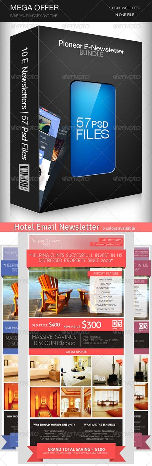 GraphicRiver Email Newsletter Templates Bundle