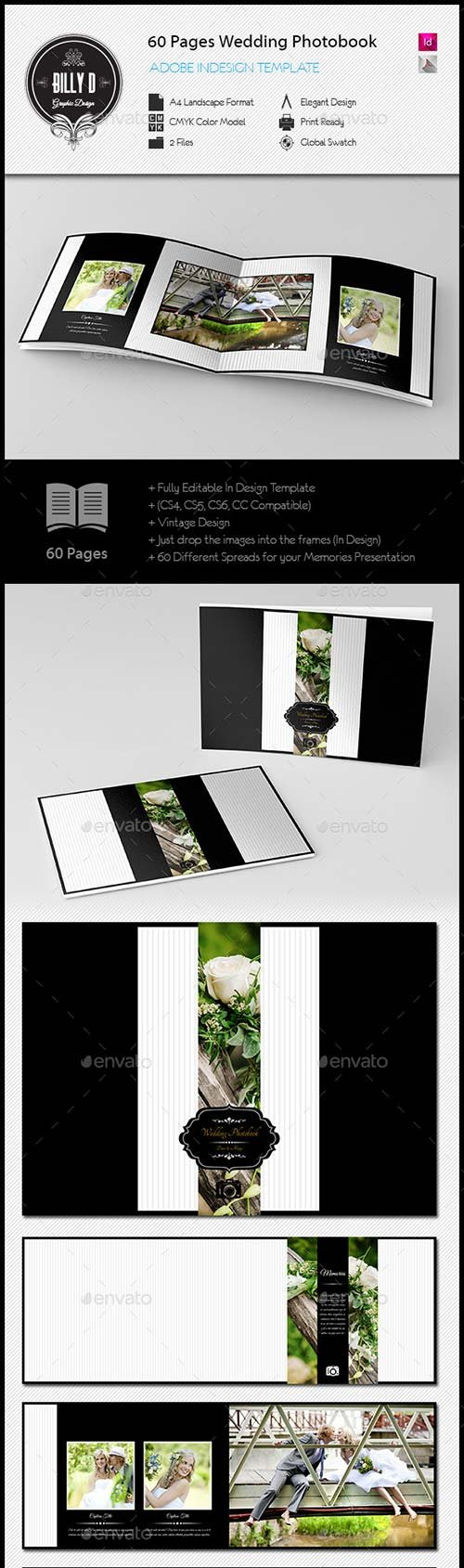 GraphicRiver 60 Pages Wedding Photobook Template