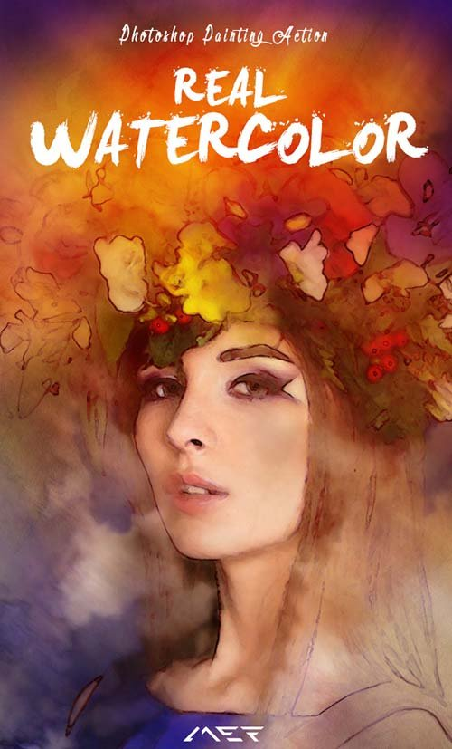 GraphicRiver Real Watercolor Painting Photoshop Action