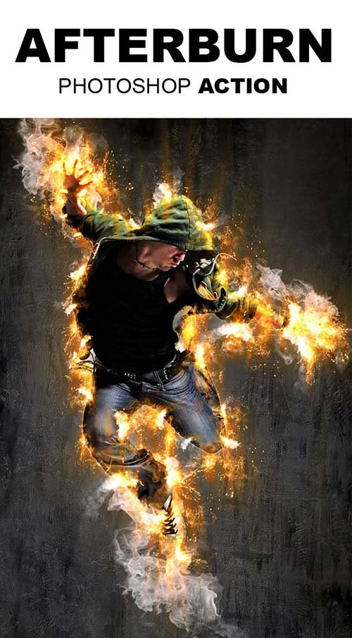 GraphicRiver AfterBurn Photoshop Action