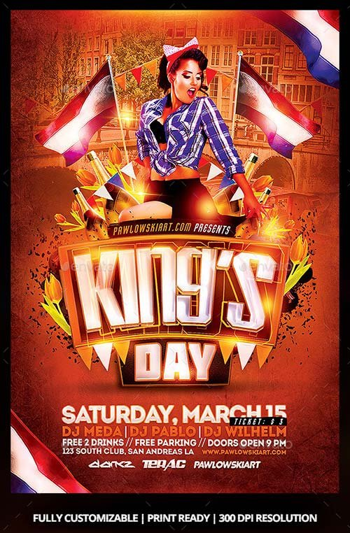 GraphicRiver King's Day / KoningsDag Party Flyer Template
