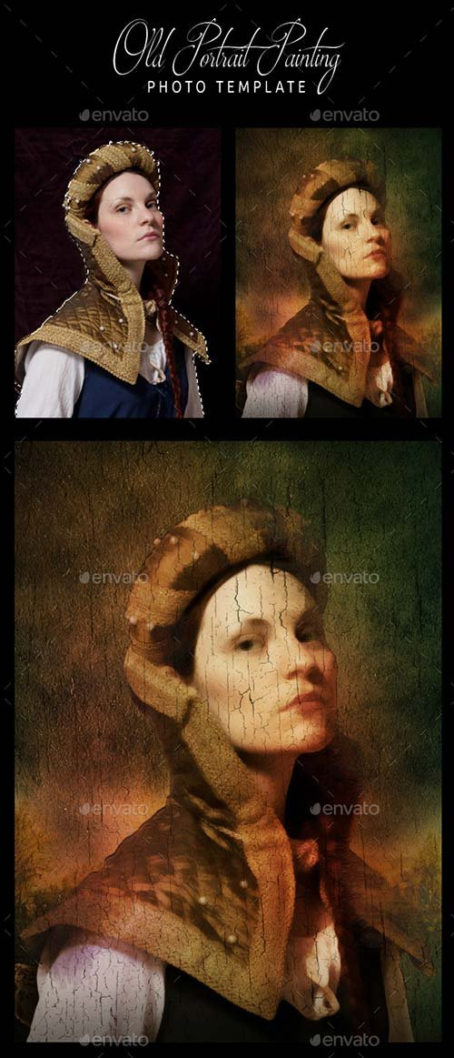 GraphicRiver Old Portrait Painting Photo Template