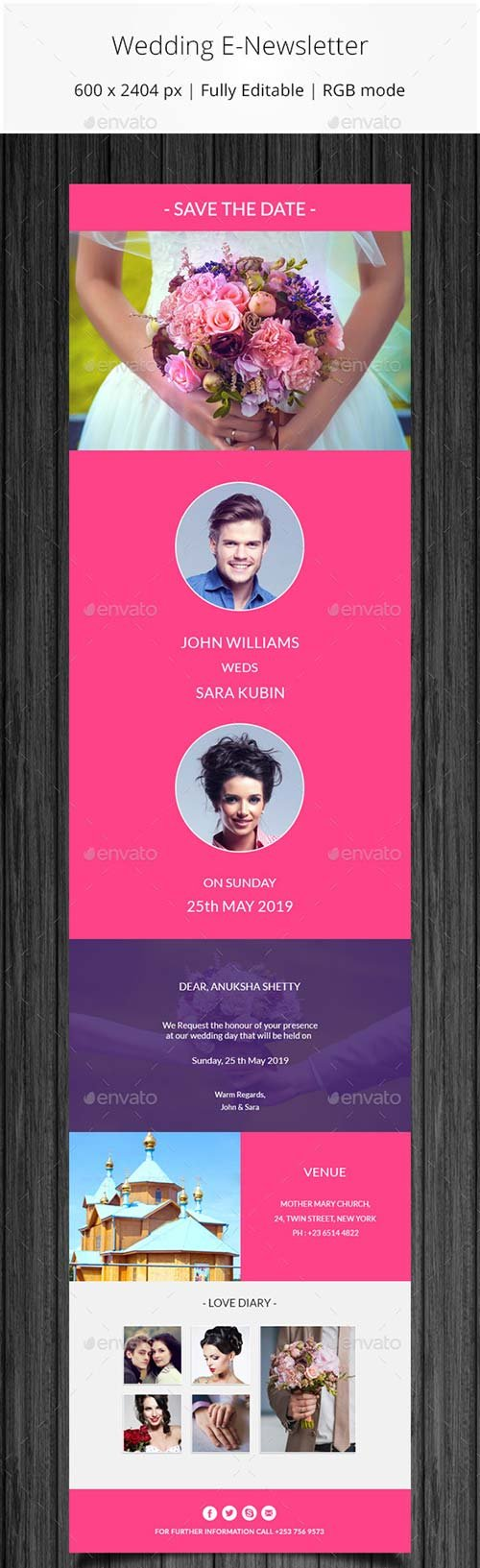 GraphicRiver Wedding Invitation Email Template