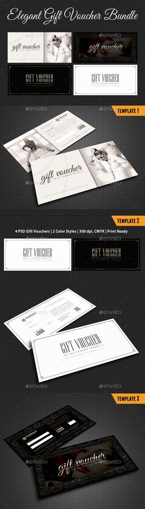 GraphicRiver 3 in 1 Elegant Gift Voucher Bundle 01