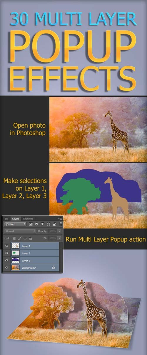 GraphicRiver 30 Multi Layer Popup Effect