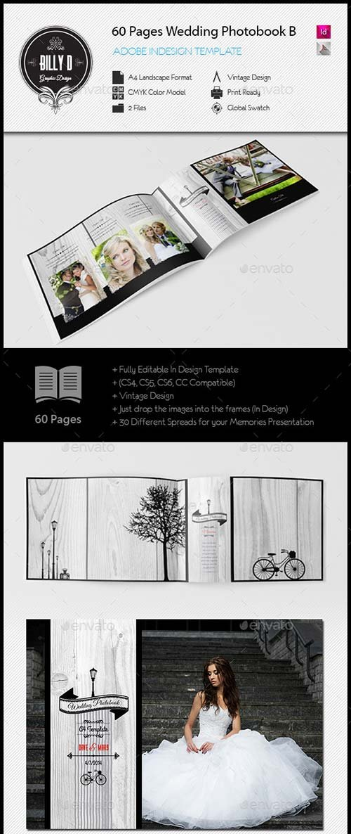 GraphicRiver 60 Pages Wedding PhotobookTemplate Be