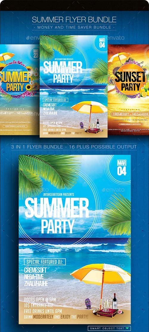 GraphicRiver Summer Flyer Bundle V.1