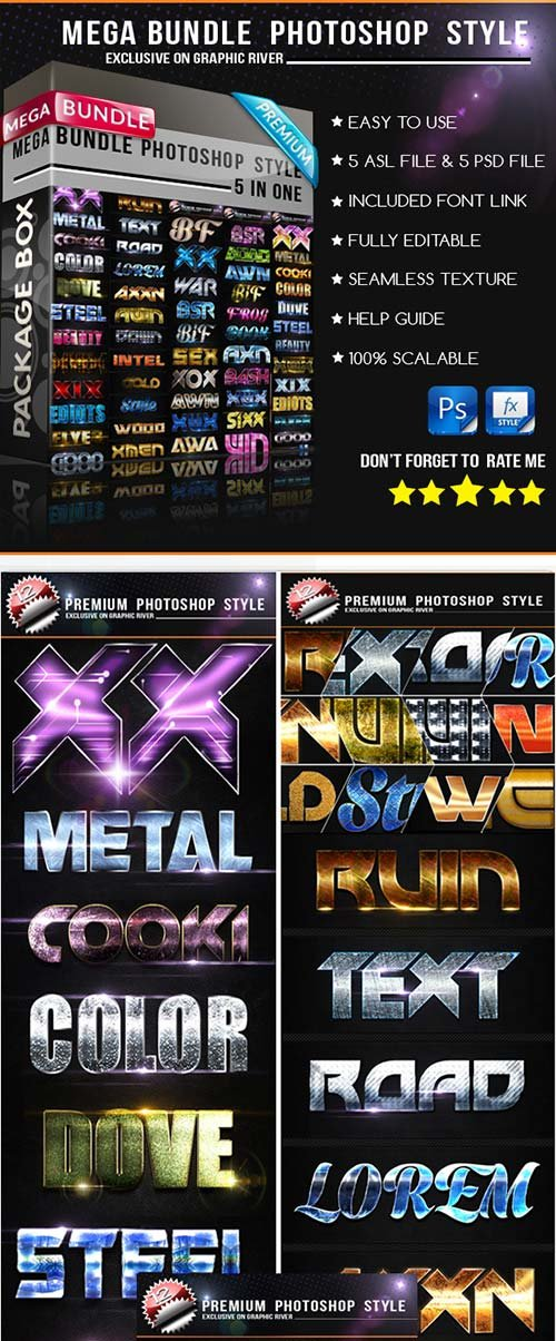 GraphicRiver Mega Bundle Photoshop Style