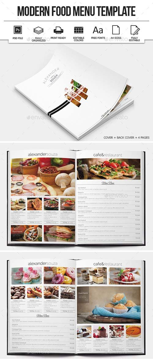 GraphicRiver Modern Food Menu Design