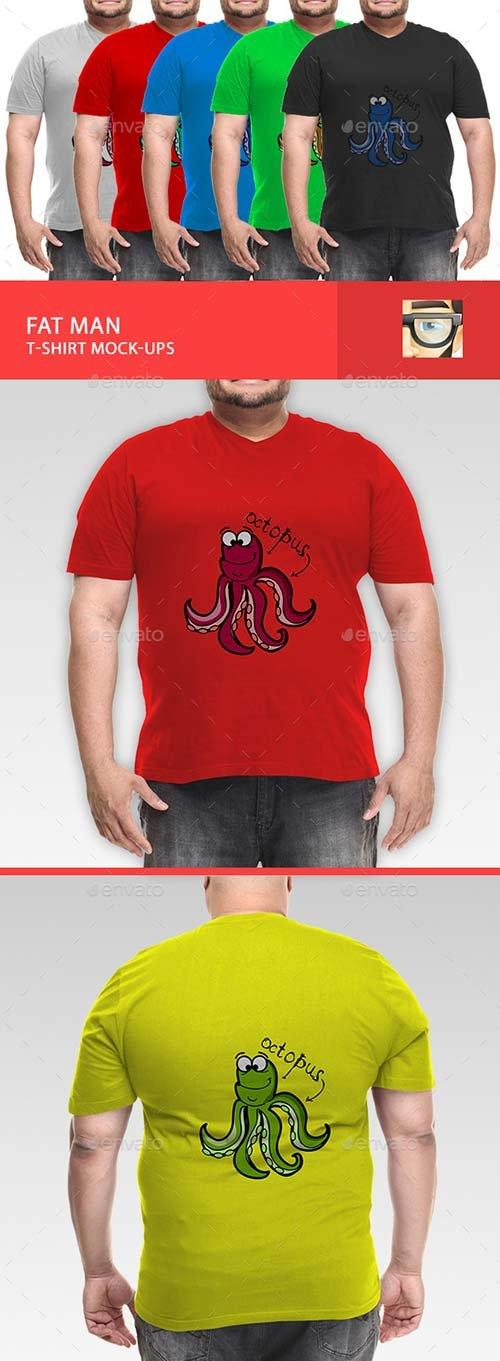 Product mockups graphicriver fat man t shirt mock ups for T shirt mock ups