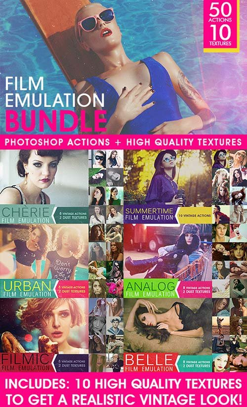 GraphicRiver Film Emulation: Actions and Textures Bundle