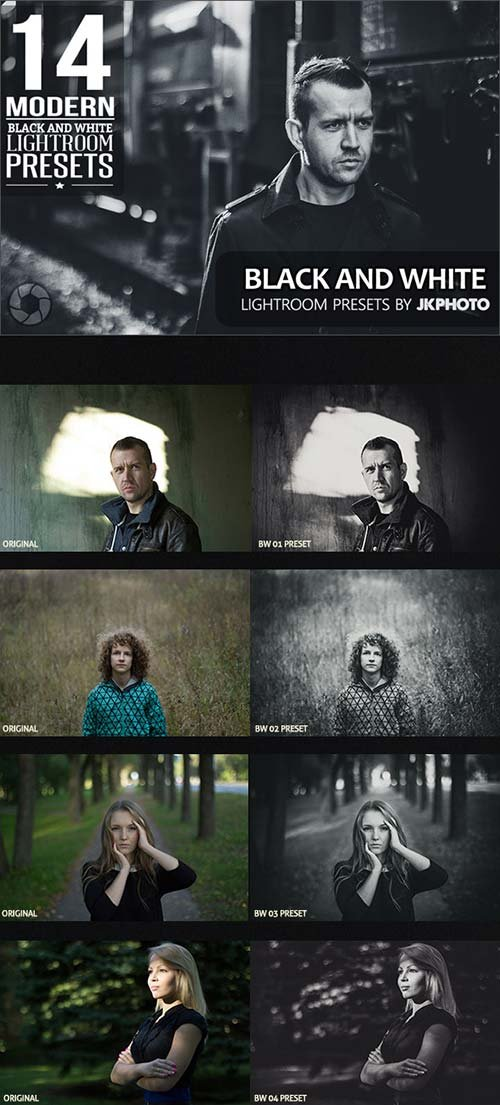 GraphicRiver 14 Black And White Lightroom Presets