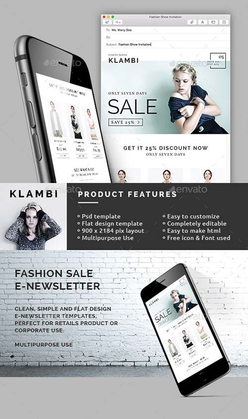 GraphicRiver Fashion Sale E-Newsletter
