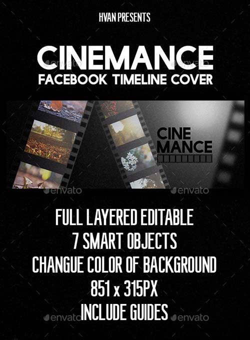 GraphicRiver Cinemance (Facebook Timeline Cover)