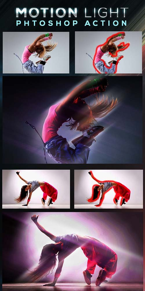 GraphicRiver Motion Light Photoshop Action
