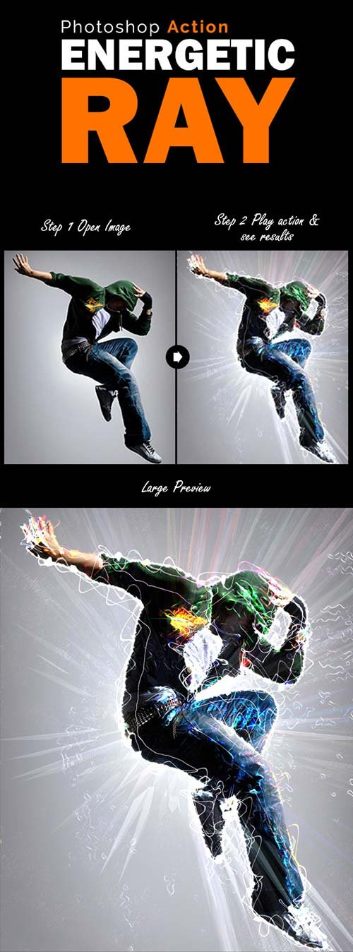 GraphicRiver Energetic Ray Photoshop Action