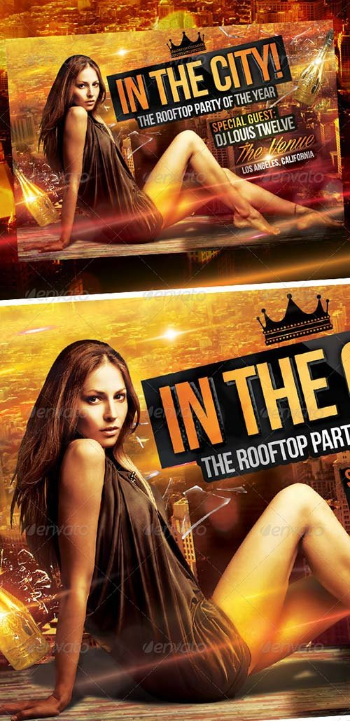 GraphicRiver In the City - Rooftop Party | Flyer Template