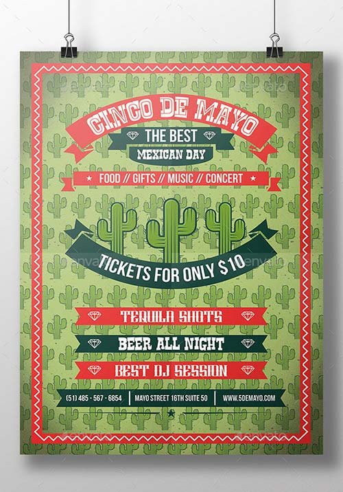GraphicRiver Cinco de Mayo Flyer Template 11294154