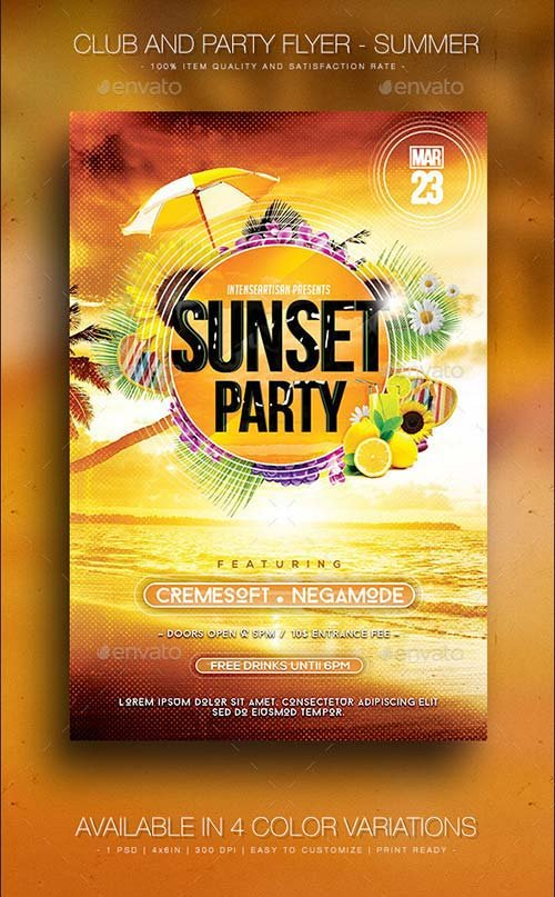 GraphicRiver Summer V.3 - Club And Party Flyer