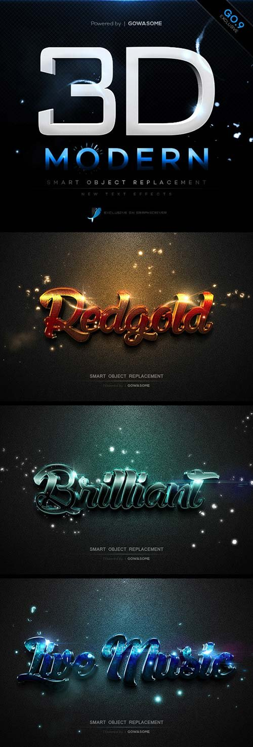 GraphicRiver Modern 3D Text Effects GO.9