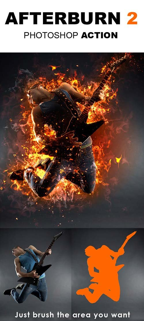 GraphicRiver AfterBurn 2 Photoshop Action