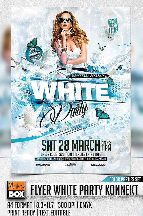 GraphicRiver Flyer White Party Konnekt