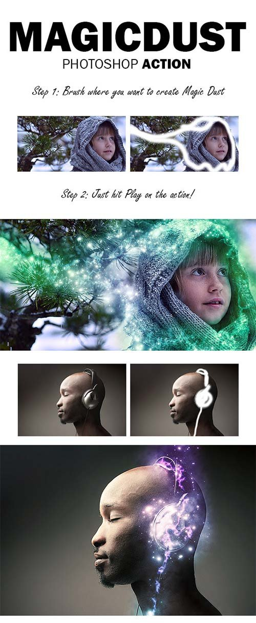 GraphicRiver MagicDust Photoshop Action