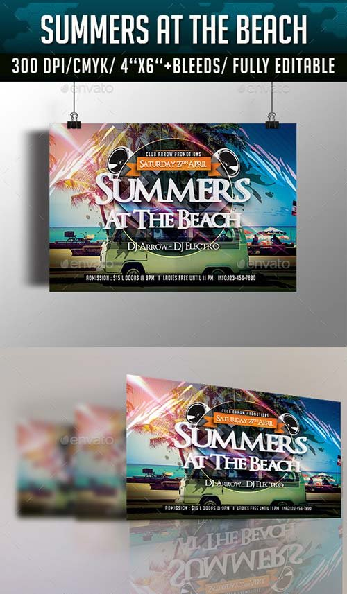 GraphicRiver Summers at the Beach Flyer Template