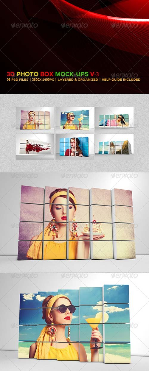 GraphicRiver 3D Photo Box Mockups V-3