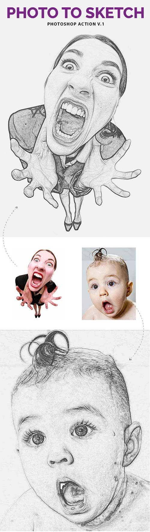 GraphicRiver Photo to Sketch V.1 - Photoshop Action