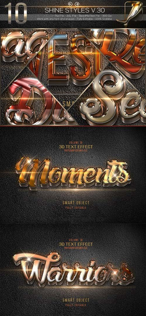 GraphicRiver 10 3D Text Effects V.30