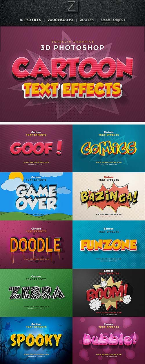 GraphicRiver Cartoon Text Effects