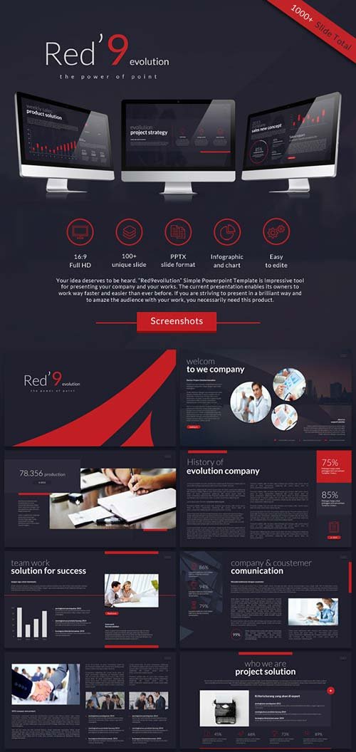 GraphicRiver Red'9evolution Powerpoint