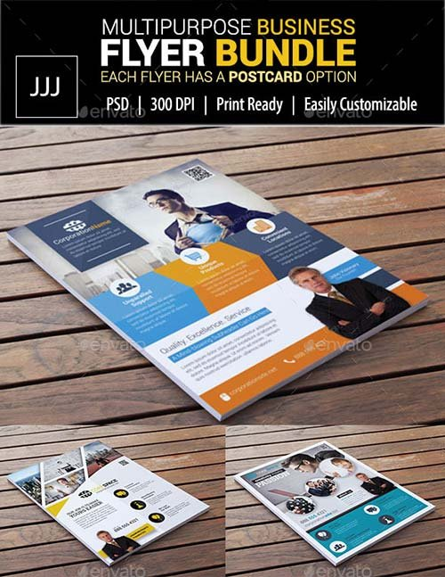 GraphicRiver Business Flyer Bundle with Postcard Options