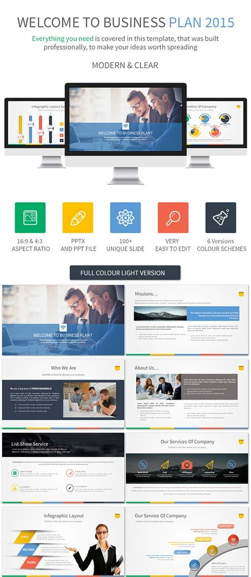 GraphicRiver Business Plan 2015 Powerpoint Template