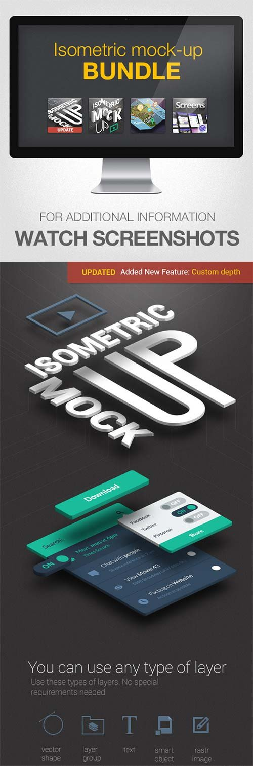 GraphicRiver Isometric Mock-UP Actions Bundle