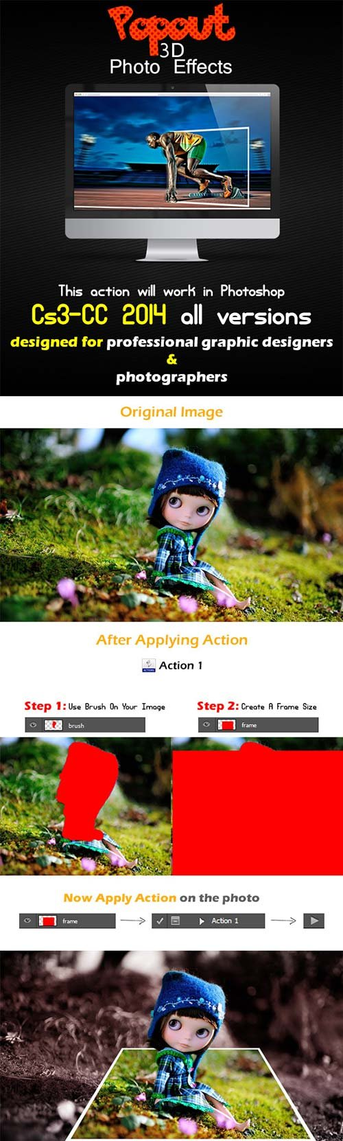 GraphicRiver Popout 3D Photo Effects