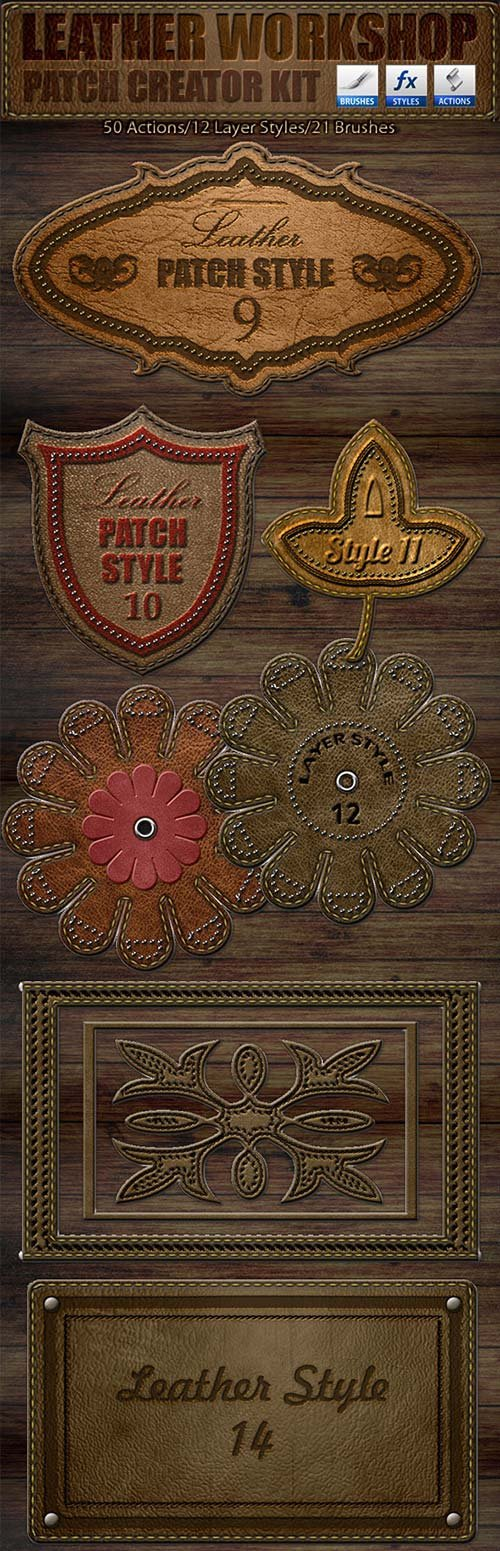 GraphicRiver Leather Workshop: Patch Creator Kit